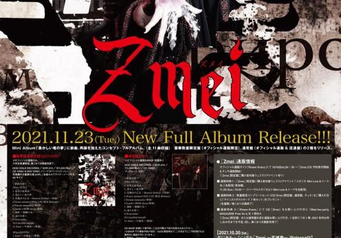 1、Dニューアルバム「Zmei」ウェブフライヤー
