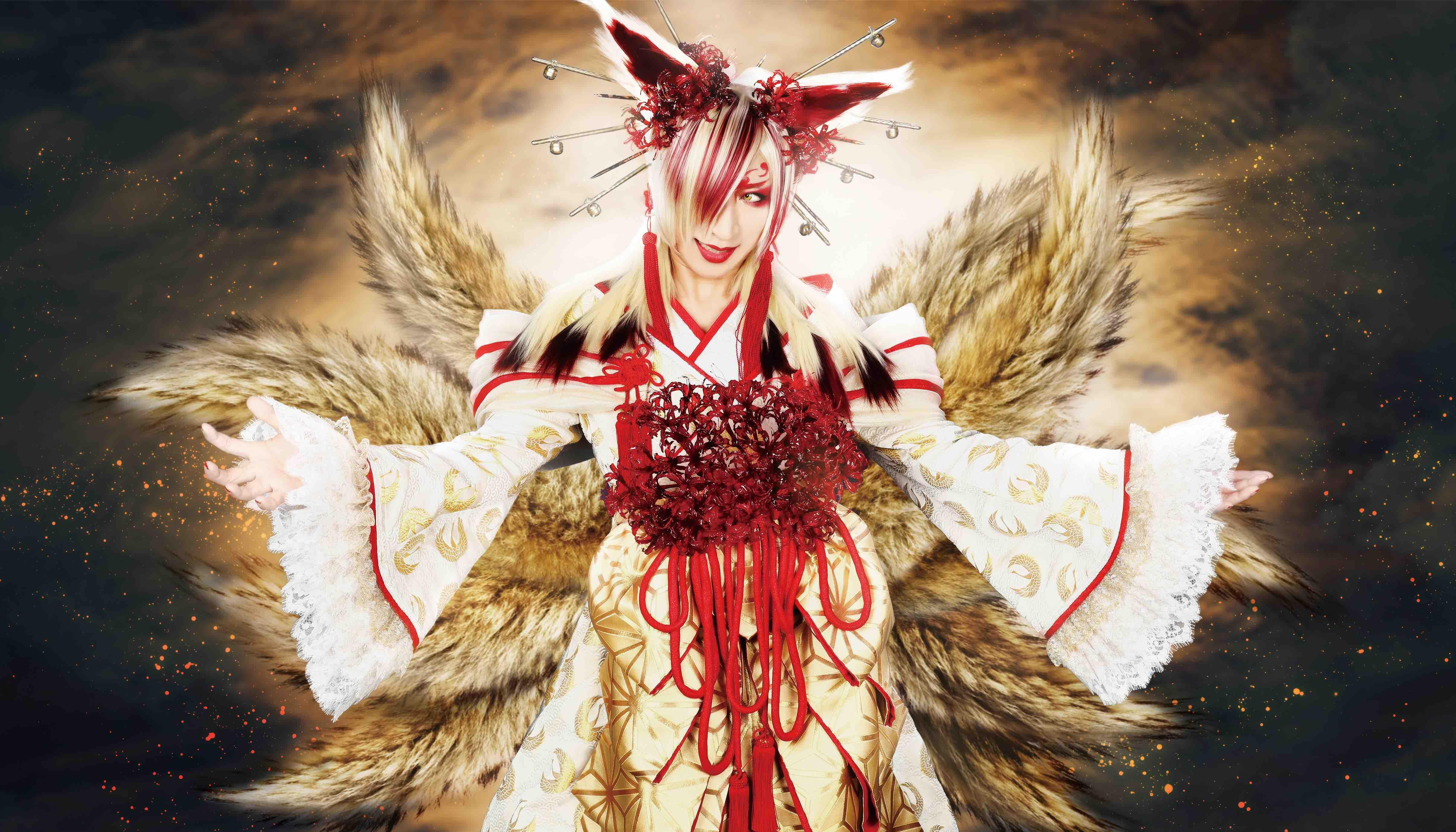 3、「妖狐の嫁入り」夜合成アー写のコピー